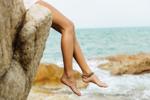 a woman's smooth and healthy legs